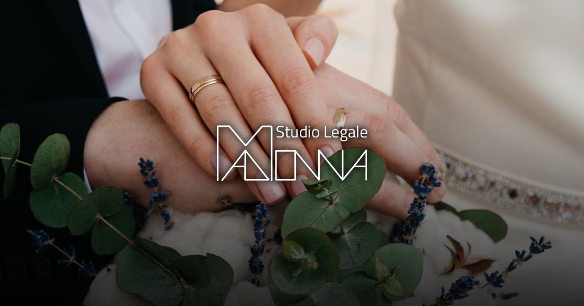 Avvocato Madonna matrimonio sospeso